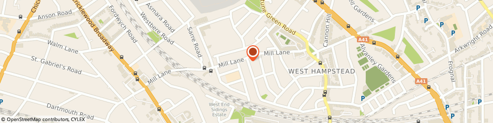 Route/map/directions to Brandon Tool Hire West Hampstead Camden (50), NW6 1NF London, 104 Mill Lane