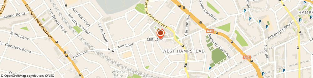 Route/map/directions to THE MILL HOUSE CAFE LTD, NW6 1NB London, 37 Mill Lane
