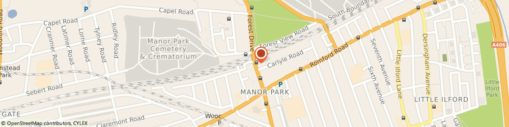Route/map/directions to Locksmith Manor Park, E12 5BP London, 52A Station Road, Manor Park