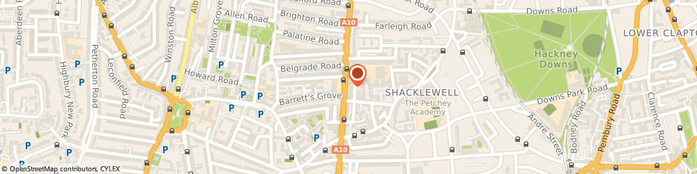 Route/map/directions to Elegant Cars, N16 7XB London, 62 Stoke Newington Road