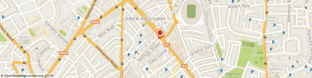 Route/map/directions to Dr Wilma C Mangabeira - Psychotherapist, N7 6LB London, HOLLOWAY ROAD