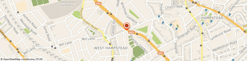 Route/map/directions to Edmund Cude, NW6 1LN London, 322 West End Lane, West Hampstead