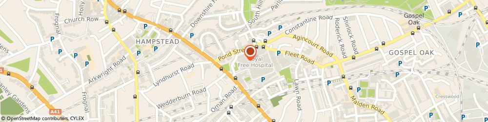 Route/map/directions to Junes Flowers, NW3 2QG London, ROYAL FREE HOSPITAL, POND ST