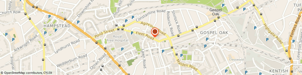 Route/map/directions to Giardino Strings, NW3 2QJ London, 1 Fleet Rd