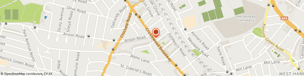 Route/map/directions to Greenmount Studios, NW2 3JR London, 71 CRICKLEWOOD BDWY
