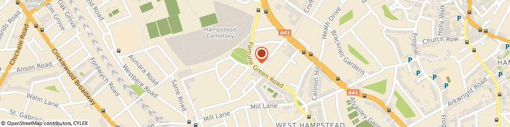 Route/map/directions to TRING ESTATE LIMITED, NW6 1DT London, 66A Fortune Green Road