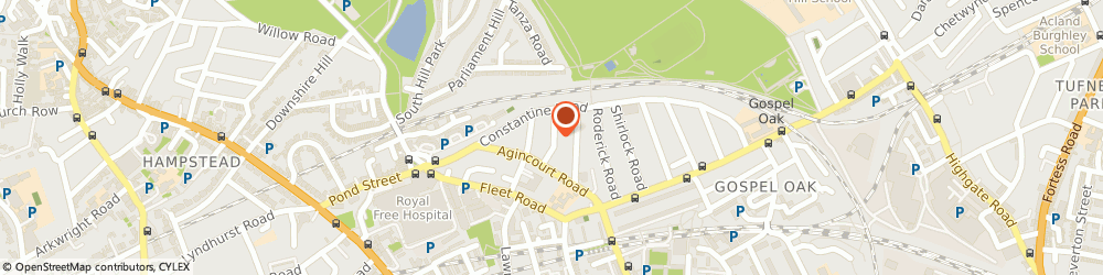Route/map/directions to R&S REFURBISHMENTS, NW3 2LT London, 20 Mackeson Road