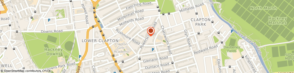 Route/map/directions to Jasmines Magic Parties, E5 0PP London, 94 Powerscroft Rd