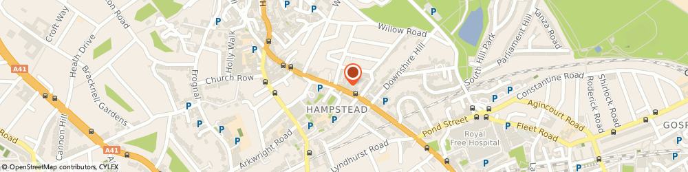 Route/map/directions to Designs, NW3 1ND London, 60 Rosslyn Hill