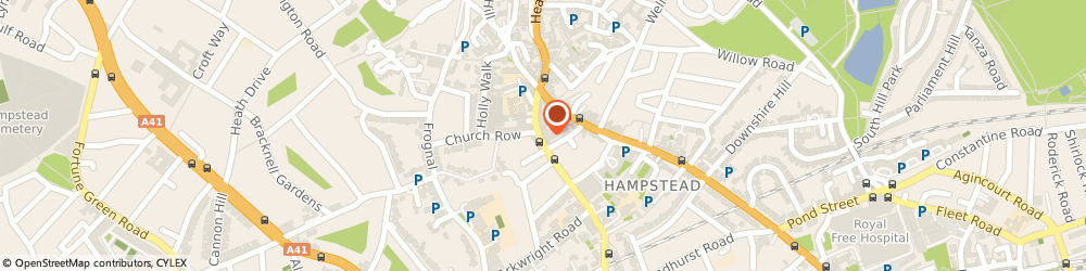 Route/map/directions to Hampstead Antique & Craft Emporium, NW3 6TE London, 12 Heath St