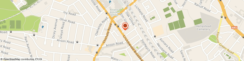 Route/map/directions to John Nodes Funeral Service, NW2 3EE London, 122 Cricklewood Broadway