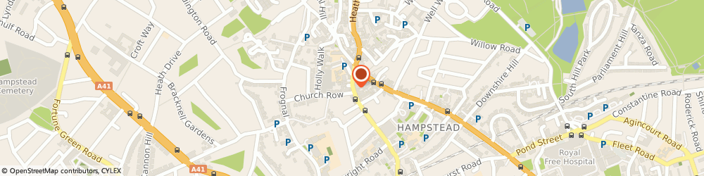 Route/map/directions to Storage Brent, NW3 6TR London, 21 Heath St