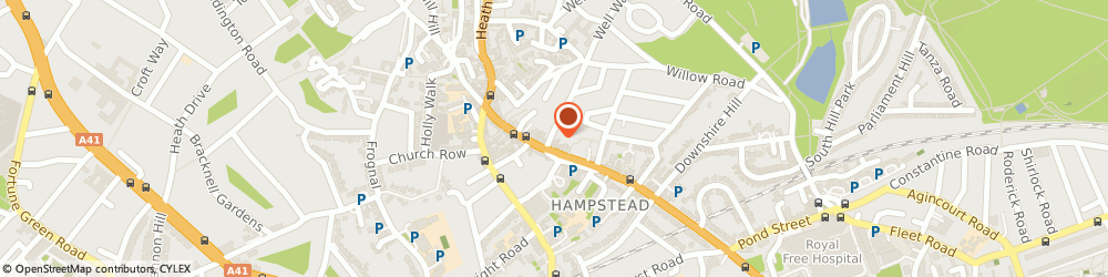 Route/map/directions to Oxfam Shop Hampstead, NW3 1TU London, 61 Gayton Road, Hampstead