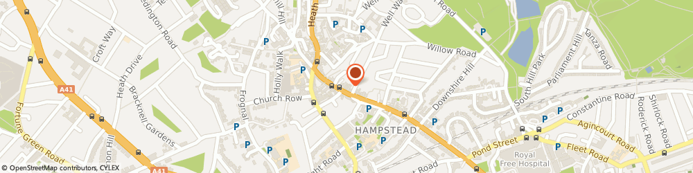 Route/map/directions to Hamptead Taxi Service, NW3 1QA London, HIGH STREET