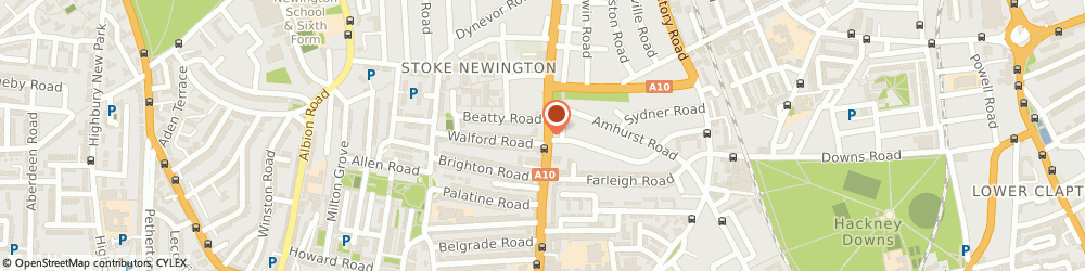 Route/map/directions to Tac Wedding, N16 8BT London, 123 Stoke Newington Road