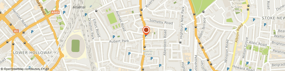Route/map/directions to UPS Solutions Logistics, N5 1UA London, 63 Highbury Park