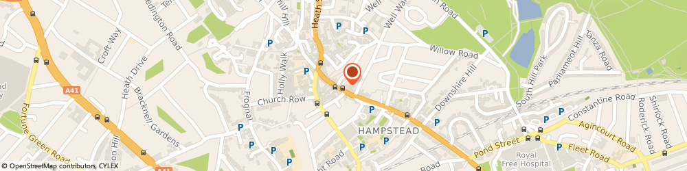 Route/map/directions to A i f, N6 6BU London, THE COACH HOUSE 58-59 HIGHGATE WEST HILL