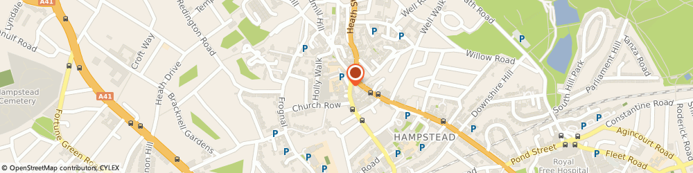 Route/map/directions to Sweaty Betty, NW3 6TR London, 35 Heath Street