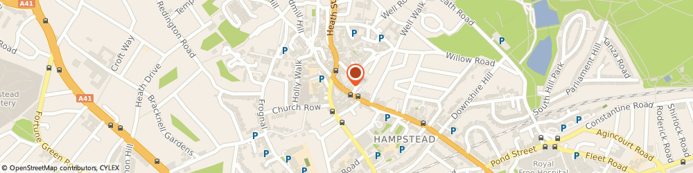 Route/map/directions to Hampstead Taxis and Minicabs, NW3 1QE London, Hampstead high street