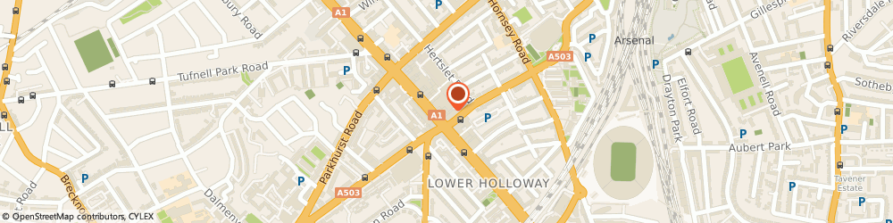 Route/map/directions to COSTA COFFEE, N7 6PN London, Holloway Road