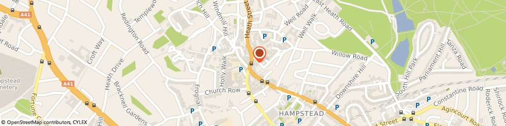 Route/map/directions to Dexters Estate Agents Hampstead, NW3 1DL London, 56 Heath Street