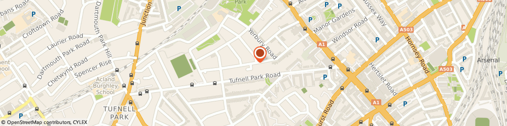 Route/map/directions to Coraltrend Ltd, N19 4PJ London, COLLINGWOOD BUSINESS CENTRE, MERCERS ROAD
