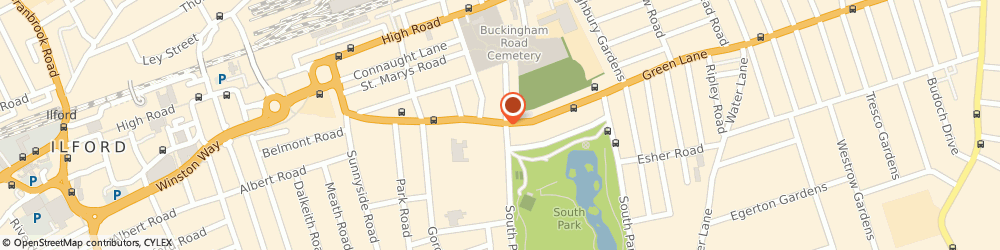 Route/map/directions to CREATIVE SIGNS AND DESIGN LTD, IG1 1YQ Ilford, 190 Green Lane
