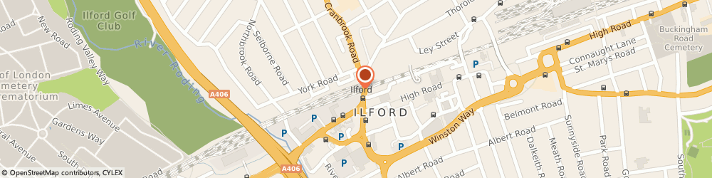 Route/map/directions to British Transport Police, IG1 4DU Ilford, Platform 4, Ilford Railway Station Cranbrook Road