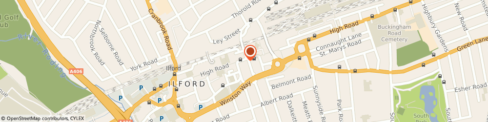 Route/map/directions to Zest Salad Bar, IG10 1DN London, 194 High Rd