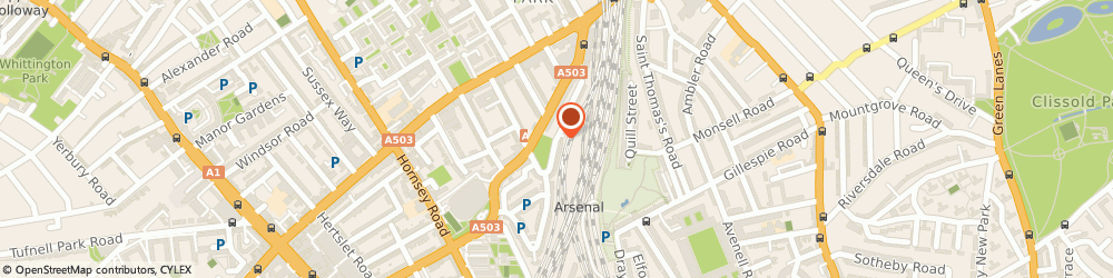 Route/map/directions to Discocars, N7 7JG London, 34, PARKSIDE CRESCENT
