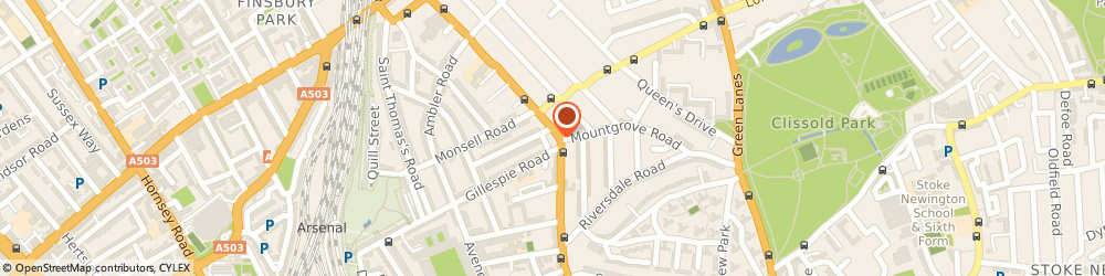 Route/map/directions to Finsbury Car Audio, N4 2DY London, 152 Blackstock Rd