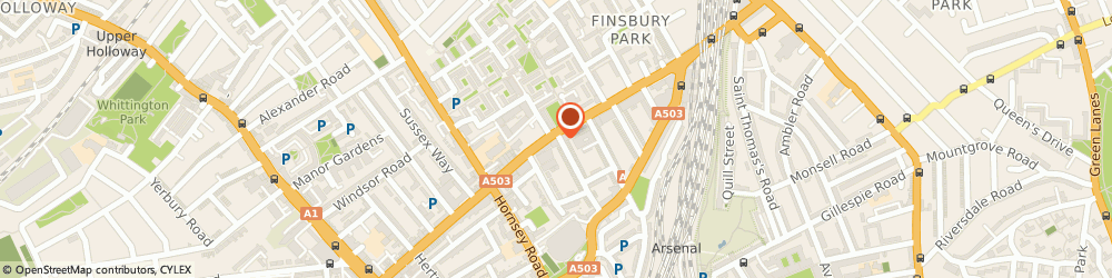 Route/map/directions to Go Mini Cabs, N7 7PL London, 158b Seven Sisters Rd