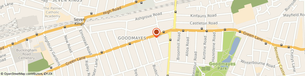 Route/map/directions to Rattan Manufacturers, IG3 9LN Ilford, 546 GREEN LANE