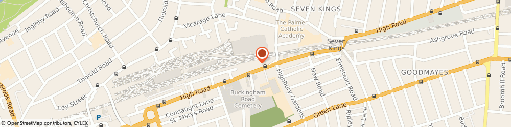 Route/map/directions to Euronics RGB Hi-Fi & Video Ltd, IG1 1TZ Ilford, 543-549 High Road