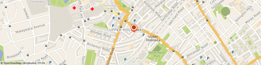 Route/map/directions to Locksmith Islington, N19 5SH London, Hargrave Rd