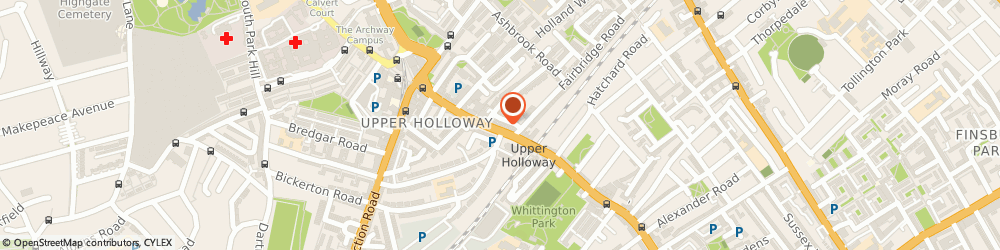Route/map/directions to Fresh Flower Scent, N19 3JF London, 748 Holloway Road
