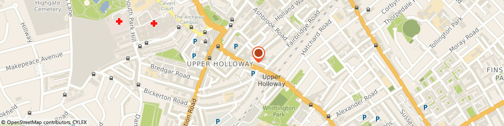 Route/map/directions to Vinay's Shoecare, N19 3JF London, 760 Holloway Road