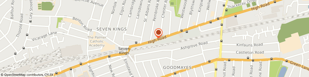 Route/map/directions to Ogradys Bar, IG3 8RH Ilford, 699 High Rd