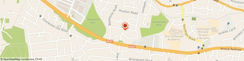 Route/map/directions to Brian Shrimplin, SS9 5PH Leigh-On-Sea, 34 Pinewood Avenue