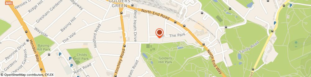 Route/map/directions to Contract Hire Co, NW11 7QR London, 7 GOLDERS PARK CLOSE