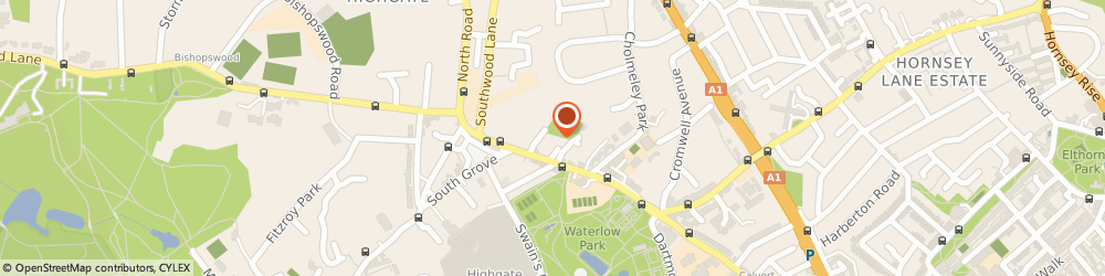 Route/map/directions to LLI Design, N6 5JW London, 8 Broadbent Close