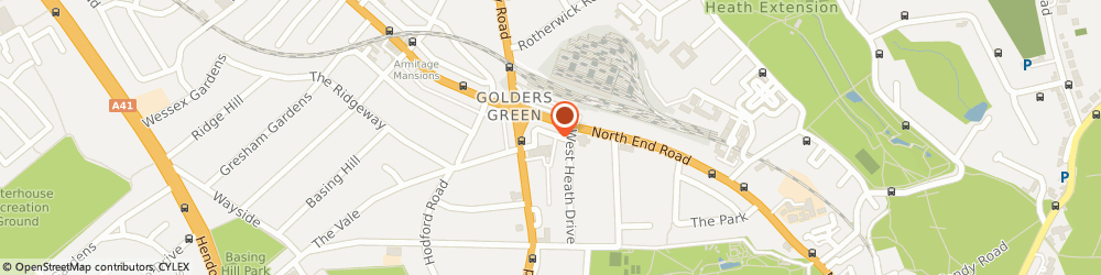 Route/map/directions to London Taxi Promotions Ltd, NW11 7QE London, ST ALBANS HOUSE, ST ALBANS LANE
