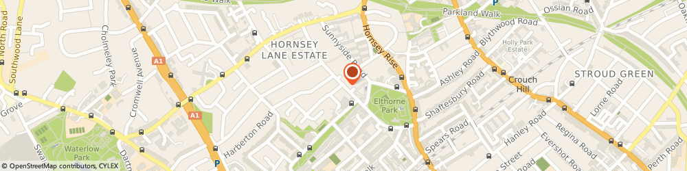 Route/map/directions to Islington Boys Club, N19 3LP London, 20 HAZELLVILLE ROAD