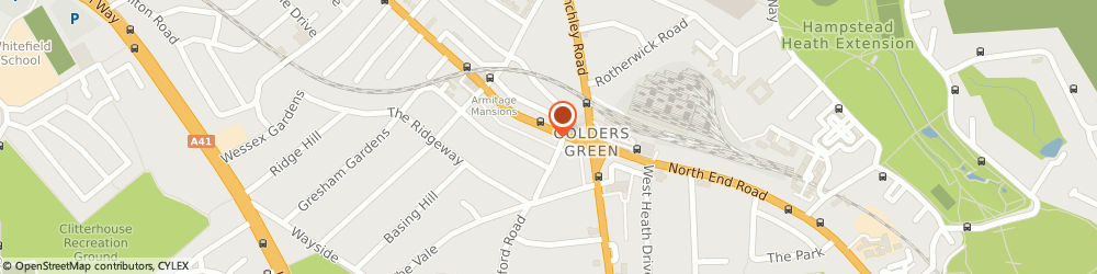 Route/map/directions to Husen Moda Ltd, NW11 8EE London, 39 Golders Green Rd