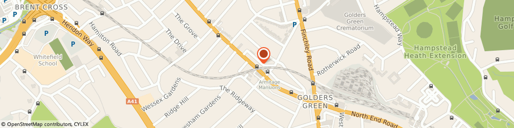 Route/map/directions to Gold's Factory Outlet, NW11 8HB London, 108 Golders Green Rd