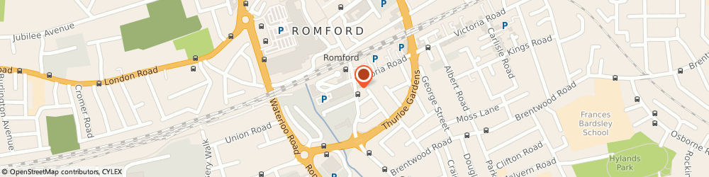 Route/map/directions to Barclays Bank, RM1 1RH Romford, 36/38 South Street