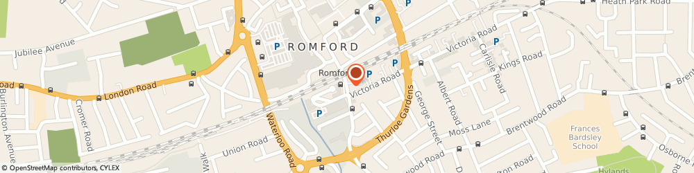 Route/map/directions to Aforda Limited, RM1 1PL Romford, 153, South Street