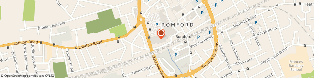 Route/map/directions to TK Maxx, RM1 1AU Romford, 1-15 The Brewery