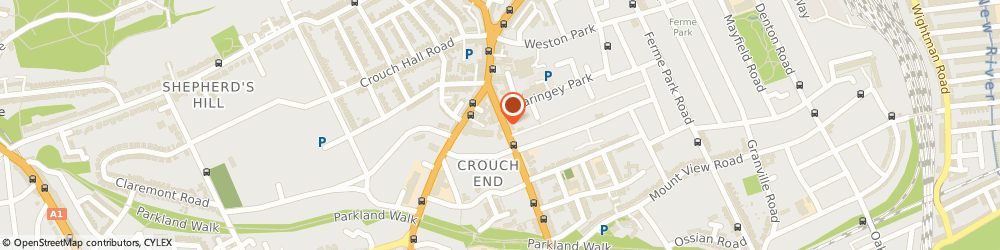 Route/map/directions to Fix-It Man, N8 9QH London, 145F Crouch Hill