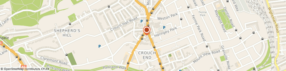 Route/map/directions to in Theory...., N8 8AA London, 48 Crouch End Hill